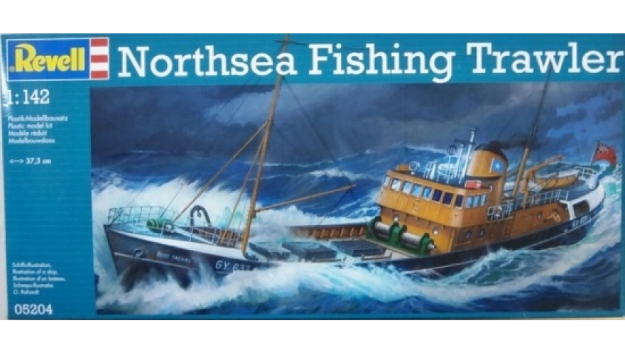 ������� ������ ����������� �������� NORTH SEA FISHING TRAWLER, ������� 05204, ������������ REVELL, ��������, ������� 1:142